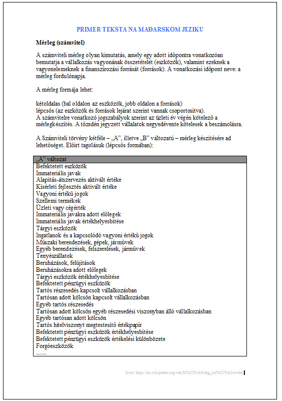 Prevod na madjarski i prevod sa madjarskog