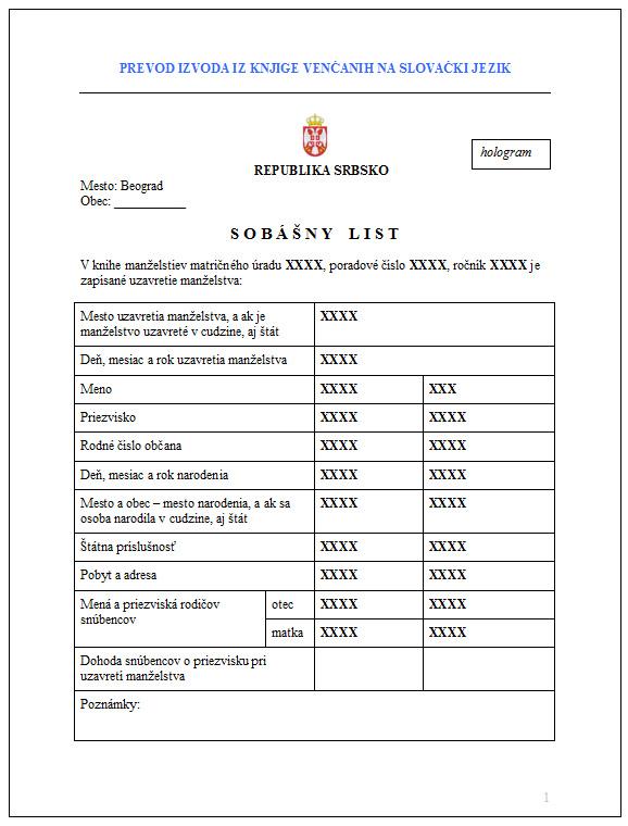 prevod na slovacki i prevod sa slovackog